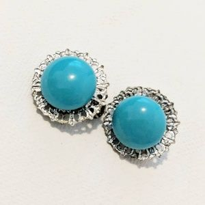 Jewelry - Turquoise Clip Earrings